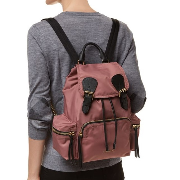 Burberry Handbags - Burberry pink rucksack nylon backpack medium aa92e194880da